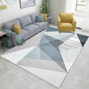 1pcs 3D 인쇄 된 직사각형 카펫 가을과 겨울 새로운 기하학적 거실 커피 테이블 담요 침실 머리맡 카펫 50 * 80cm