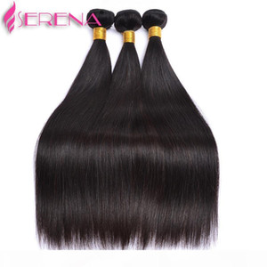 Brazilian Straight Hair Weaves With Top Lace Closure Unprocessed Malaysian Peruvian Indian Virgin Human Hair Extensions Remy Hair Wefts