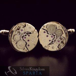 Sparta New Mechanical Watch Core Cufflink Men's + Free Shipping !!! Metal Buttons