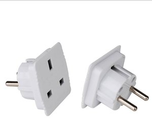 2020 UK to EURO EU AC Power Converter Travel Plug Adapter Adapters Converters white