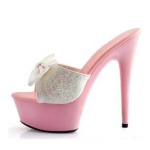 Новая мода 2021 дизайн 15 см Super каблуки высокие костыли тапочки увидят сексуальные открытые со своими ногами стриптизер-шпильки 34-43. 3F0J.