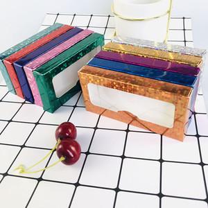 DHL Lash Packaging New Lash Boxes Packaging Wholesale Bulk Soft Paper Eyelash Packaging Box Empty Lashes Box