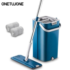 Magic Cleaning Mop Free Hand Mop With Bucket Floors Squeeze Flat Mop With Water Home Kitchen Floor Cleaner sqcBvO bdenet