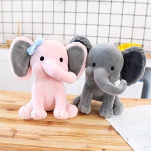 2 Colors Kids Elephant Soft Pillow Stuffed Cartoon Animals Soft Dolls Toys Kids Sleeping Back Cushion Children Birthday Gift EWF3490