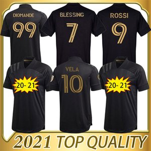 2020 2021 LA LOS ANGELES FC LAFC VELA SOCCER JERSEYS KITS KITS HOMA 20 21 ZIMMERMAN ROSSI Bénédiction Hommes Boys Footbal Shirts