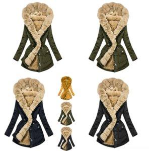 00RXT 남성복 겨울 패션 남자 모피 칼라 전술 앙고라 벨벳 코트 밀리건 재킷 롱 코트 섹션 플러스 스웨터 두께