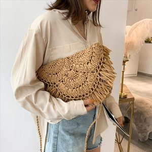 Handbag womens bag woven rattan Bag straw Casual Wild Vacation Simple Weave Crossbody Bag Drop shipping lcj 29
