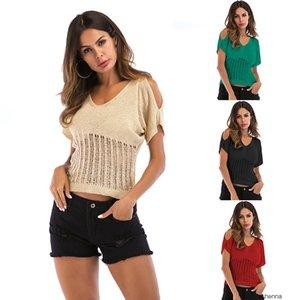 womens designer sweater Thin knitwear season short sleeve T-shirt with casual base shirt female tide8NFK 3617