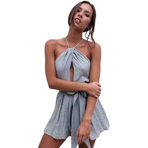 Slim Fit Без рукавов ремня талия обниматься для похудения Камизол onseie женские шорты улицы сексуальный костюм