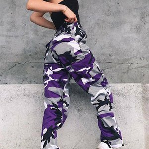 Fashion Women Camouflage Print Cargo Pants Military Army Combat Pants Autumn Casual Pockets Long Trousers Streetwear