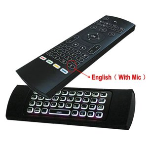 MX3-M-L Backlit Air Mouse Universal Smart Voice Remote Control 2.4G RF Wireless Keyboard for Android tv box H96 Max X96 mini