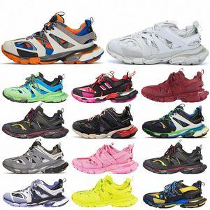Parça 2 Koşucular Ayakkabı Mens Womens Track2 3.0 Sarı Pembe Siyah Spor Rahat Ayakkabılar Eğitmenler SneakersBalanciaga 02 B14U #