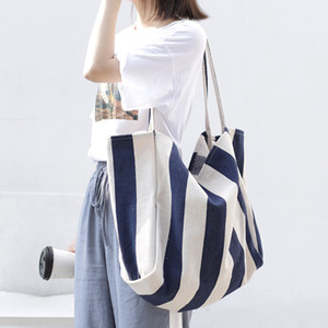 Pink sugao luxury handbag BRW tote bags designer canvas women shoulder bag large capacity clearly wild striped canvas bags