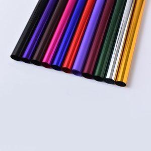 Pipe Pure Color Coller Papier Glossy Platinum Etantin Papiers Manuelle Emballage Matériel Fond Bouquet de fond Décorer 58 * 58cm 11 5cy N2