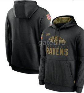 2020 Mens Arizona Baltimores Sweatshirt NY Hoody 2020 Salute to Service Sideline Therma Performance Pullover Hoodies S-4XL