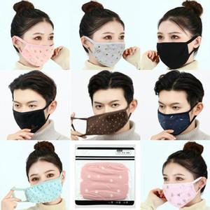 DHL анти-пыль хрустальный бархатный хлопчатобумажная ткань лица маски мода печатная маска унисекс человек женщина велосипедная маска
