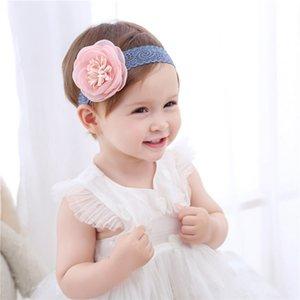 الرضع طفل بنات الرباط زهرة العصابة زهرة كبيرة للأطفال الأطفال أغطية الرأس الشعر الرباط التفاف إكسسوارات الشعر HHA1675
