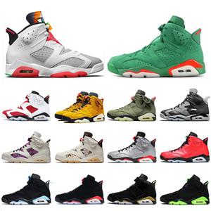 Nike Air Retro Jordan 6 Travis Scott 6 6s Hare 6 Gatorade Jumpman Kadınlar Erkek Basketbol Ayakkabıları Satin 6SÜrdünRetro Tech Krom Kızılötesi DMP Eğitmenler ayakkabılar