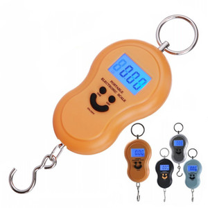 50kg x 10g Mini Digital Scale For Fishing Luggage Travel Weighting Steelyard Hanging Electronic Hook Scale Kitchen Weight Tool D 69 J2