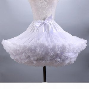 Fluffy Women's Tutu Skirt Adult Tulle Short Petticoat with Ruffles 12 Colors S916