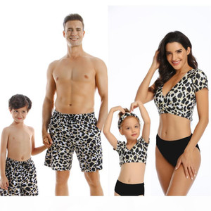 NEW Family Matching Outfit Swimwear Women Swimsuit Dad Mother Daughter Kid Son Girl Bathing Swim Suit Bikini Summer Beach Dress