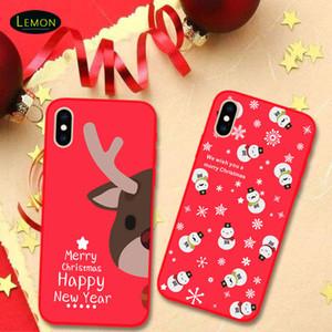 Téléphone portable Nouveau pour iPhone Noël Présent 11 PRO X XS MAX 8 7 6 Plus Dessin animé Création Creative Cover Cover Cadeaux de Noël de luxe TPU