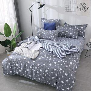 Star Planet 4pcs Stripe Girl Boy Kid Bed Cover Set Duvet Cover Adult Child Bed Sheet and Pillowcase Comforter Bedding Set 61007