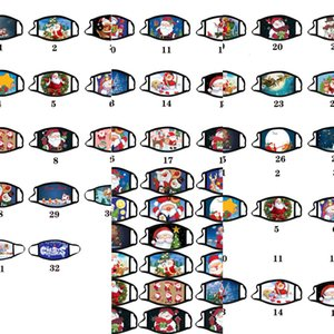 Calico Mask Anti-Goat Моющиеся хлопчатобумажные маски Цвет Рождественские Рождественские Маски для взрослых Мультфильм Маска Лица Маска Маски Мода Дизайн FA