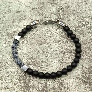 Noter Stainless Steel Bracelet Mens Boy 6mm Natural Stone Beads Braslet For Hombre Accessories Punk Brazalete Buddha Braclet1