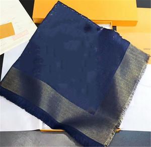 Nouvelle foulard châle folle châle coloré doré doré de laine de laine de laine de fil teint foulard châle 140 * 140cm