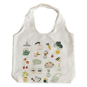 designer shoulder bag cute fresh cartoon illustration casual shoulder bag printed pattern casual student lady shoulder bag