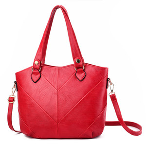 Fashion Women Handbags Tassel PU Leather Totes Bag Top-handle Embroidery Crossbody Bag Shoulder Bag Lady Hand Bags Red Color
