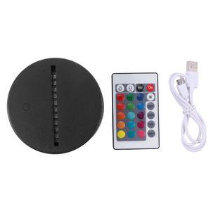 Câble USB Touche 3D LED LED Porte-lumière Base de la lumière Night Light Light Remplacement 7 Couleur Coloré Light Bases Table de décoration de table