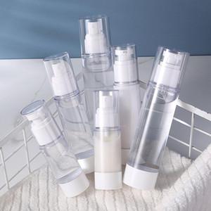 10pcs pack Refillable plastic bottle for travel trip essential milk cream lotion serum toner water vacuum spray pump container