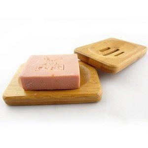 Natural Bambu Wood Soap Sabão Soap Soap Titular Bandeja Prato Placa De Armazenamento Caixa Recipiente Para Banheira Banheiro PPB90