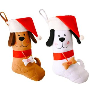 Christmas Stockings Sock Dog Bones Decoration Fireplace Xmas Tree Hanging Pendant Ornament Candy Gift Bag girlfriend love