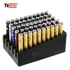 Autêntico Yocan B-Smart Vape Pen Battery 320mAh Slim Twist PRETEAT VV Bottom Ajustável Tensão E Cig 510 Bateria com suporte de exposição