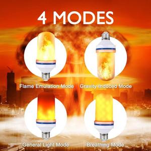 EFFECTURE FLAME LED FLAME Ampoules E26 E27 B22 4 MODES AVEC EFFET DE L'EFFET APPORTÉ SUIME ATMÉQUES DE LA LUMIÈRE DECORATIVE SIMLED GWF4115