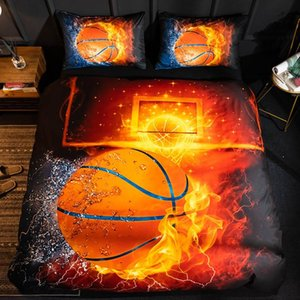 Men Sport Bedding Set Ball Bedclothes For Children Single Kids Bed Cover Home Quilt Cover And Pillowcase King Size Bedding Set
