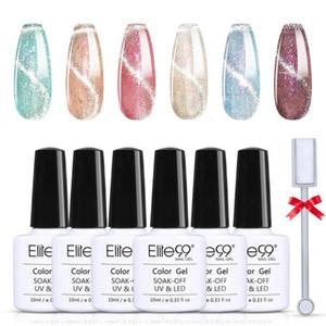 ELITE99 6pcs / lot Katze Eye Nails Gel Set Galaxie Platin-Gel-Lack Aufwechseln Magnetische Nagelkunst UV-Politur für Maniküre-Set