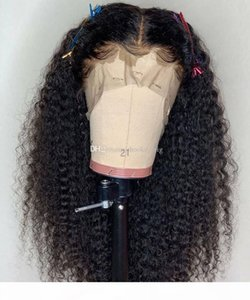 Free Part Full Lace Human Hair Wigs With Baby Hair 9A Natural Hairline Kinky Curly Brazilian Virgin Lace Front Wigs For Black Women