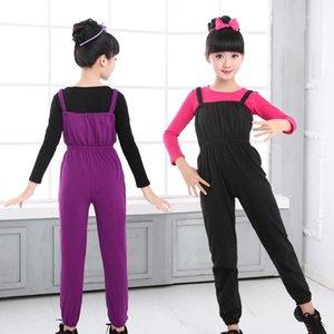 Girls Kids Ballet Leotard Tute Tuta Bambini Cotton Gymnastic Breters Pantaloni Black Purple Ballet Vestiti Dancewear1