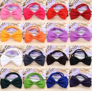 EPACK Adjustable Pet Dog Bow Tie 15 Colors Pet Headdress Neck Accessory Necklace Collar Puppy Bright Color Pet Bow Free Shipping