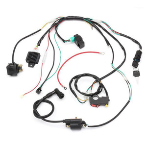 50 70 90cc 110cc 125cc Wiring Harness Loom Solenoid Coil CDI Quad Dirt Bike ATV1