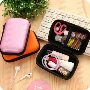 Colorful Finger Oximeter Hard EV Portable Case Protecive Zipper Pouch Travel Bag Carry Box for Fingertip Pulse Oximeter Earphone Cable Plug