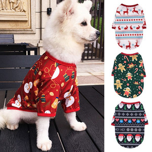 Christmas Pet Clothes for Puppy Dog Clothing Winter Warm Pet Cats Jacket Coat Dog Hoodies Puppy Costume Santa Claus Sweatshirt