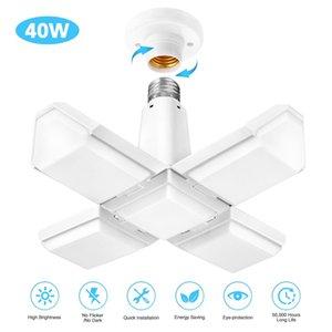 Lampe de garage de 40W à LED carrée E27 déformation lumière industrielle pliante ventilateur de plafond de plafond pour l'entrepôt