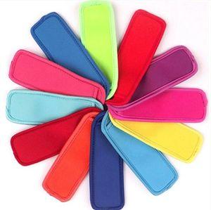 Antifreezing Popsicle Bags Reutilizáveis Suporte de Picolé Neoprene Sleeves Pop Sleeves Freezer Cobertura Lolly Cobertura de Gelo Saco Pipsicle Covers DHB3359