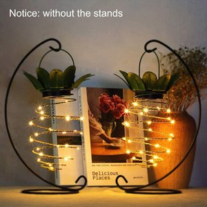 Garden Pineapple Shape Solar Hanging Light Waterproof Wall Lamp Fairy Night Lights Iron Wire Art Home Decorations DHF2719