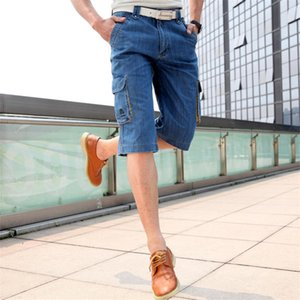 High Quality Summer Jeans Men Casual Straight Knee Length Denim Shorts Multi-Pockets Design Lightweight Short Jean Pants For Boy